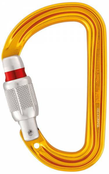 Petzl Sm'D Screw-Lock Karabiner gelb