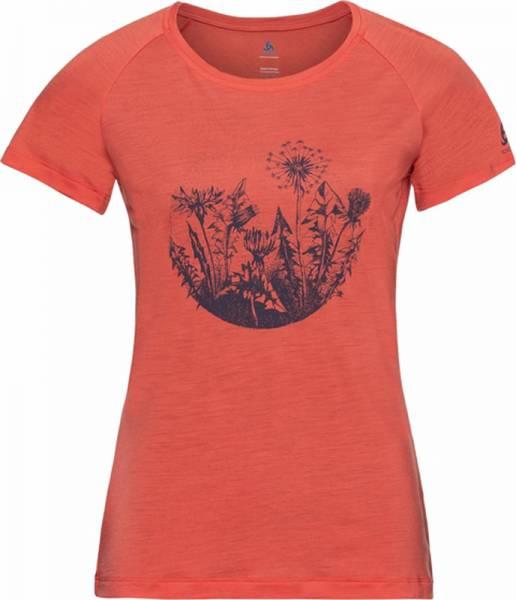 Odlo Concord T-Shirt S/S Crew Neck Women hot coral