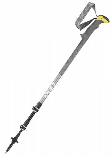 Leki Sherpa XTG grau-weiss-gelb Bergstock