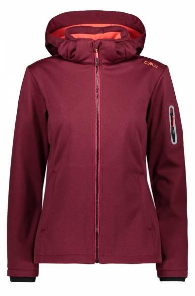 CMP Jacket Zip Hood Damen Softshelljacke magenta mel.-red fluo (39A5006M)