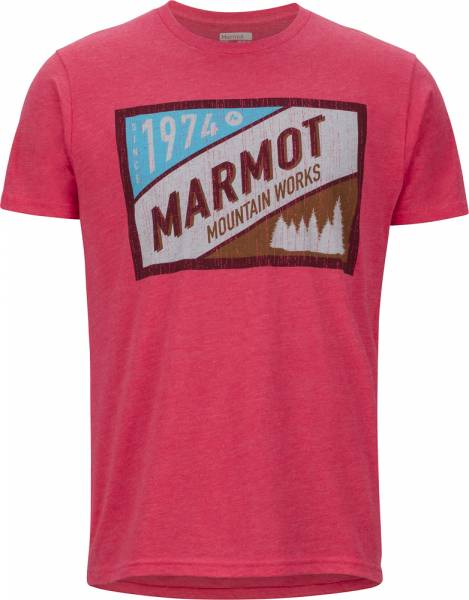 Marmot Mountain Tab Tee SS men T-Shirt red heather
