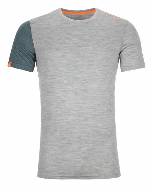 Ortovox 185 Rock´n´Wool Short Sleeve Herren Funktionsunterhemd grey blend