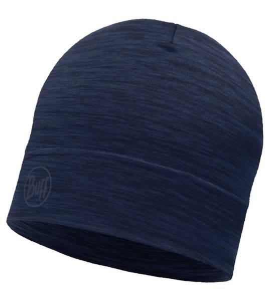 BUFF® Lightweight Merino Wool Hat Mütze solid denim
