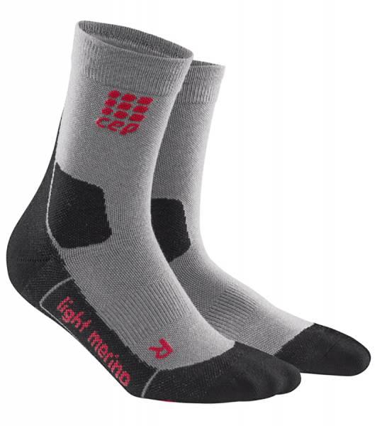 CEP Hiking Light Merino Mid-Cut Socks Damen Wandersocken volcanic dust