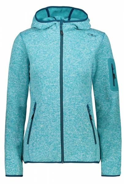 CMP Knitted Melange Hoody Jacket Damen Fleecejacke baltic mel.-deep lake (3H19826)