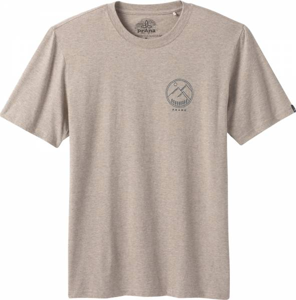 Prana Weekend Wander T-Shirt Men dark khaki heather