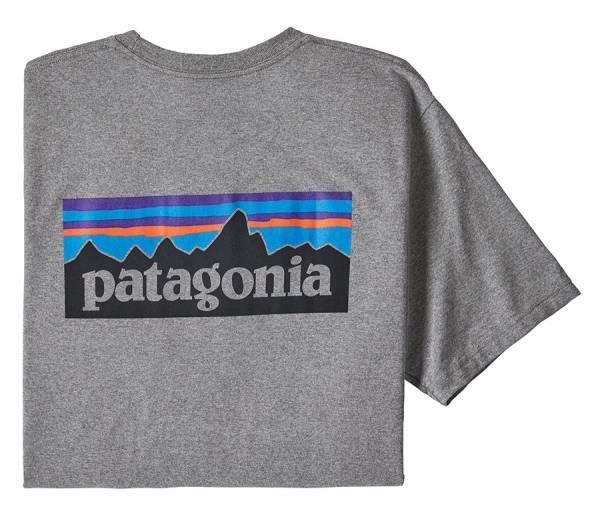 Patagonia M's P-6 Logo Responsibili-Tee® Herren T-Shirt gravel heather