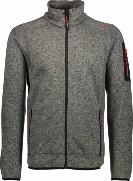 CMP Jacket Men Fleecejacke tortora-nero