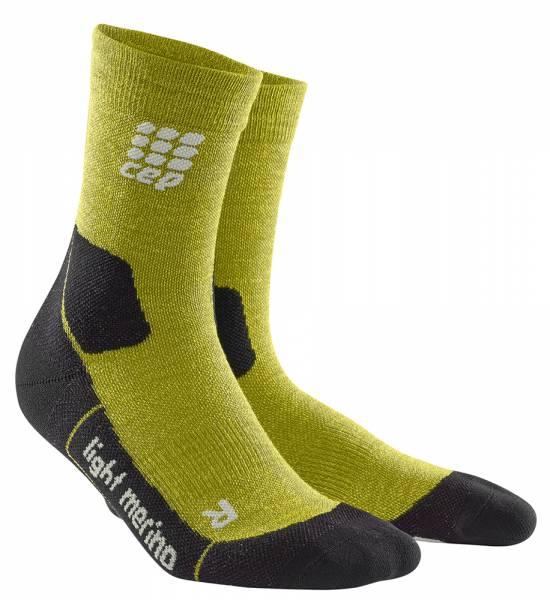 CEP Hiking Light Merino Mid-Cut Socks Herren Wandersocken fresh grass