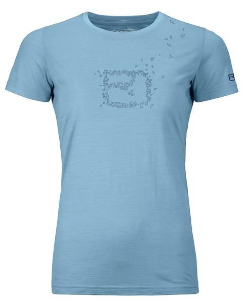 Ortovox 150 Cool Leaves TS Damen T-Shirt light blue blend