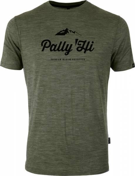 Pally´Hi Classic Peak Logo Herren T-Shirt heather moss