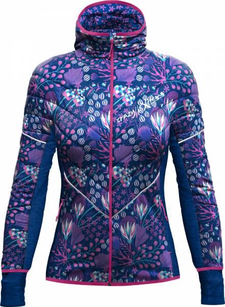 Crazy Idea Please Jacket Women print leila blue
