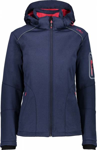 CMP Zip Hood Jacket Women Softshelljacke navy mel.-ibisco