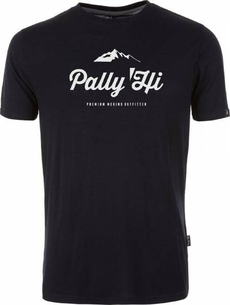 Pally´Hi Classic Peak Logo Men T-Shirt bluek