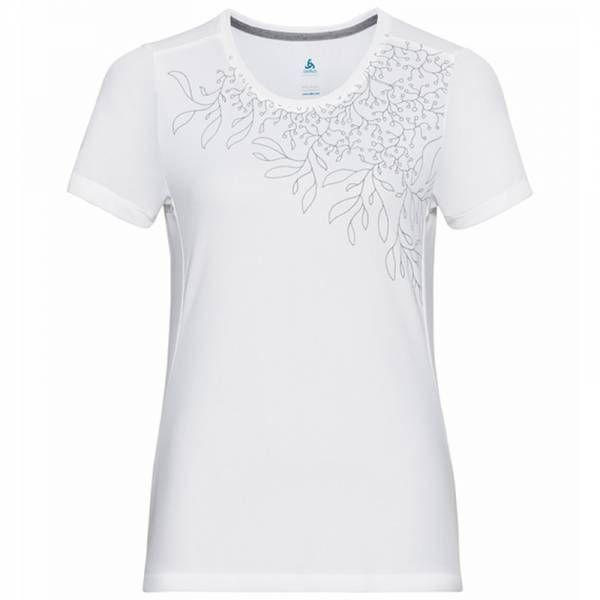 Odlo F-Dry Print T-Shirt S/S Crew Neck Women white