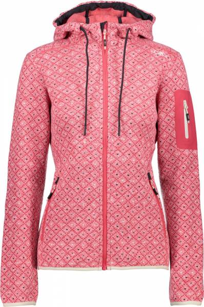 CMP Jacket Fix Hood Women Fleecejacke corallo-antracite-grey