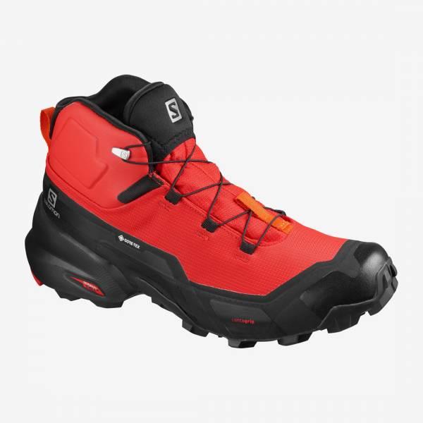 Salomon Cross Hike Mid GTX Herren Wanderschuh goji berry/black/red orange