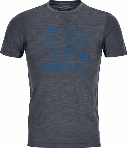 Ortovox 120 Cool Tec Puzzle T-Shirt Men black steel blend