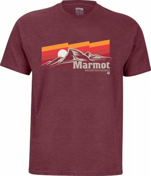 Marmot Sunsetter Tee SS Men burgundy heather T-Shirt