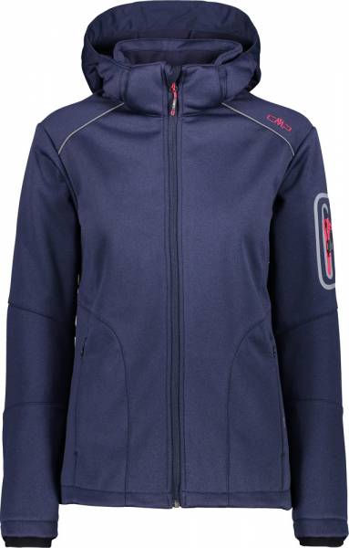 CMP Jacket Zip Hood Women Softshelljacke navy mel.-b.blue