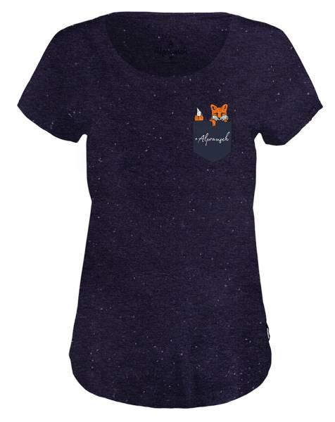 Alprausch Frechs Füchsli Damen T-Shirt navy fancy mel.