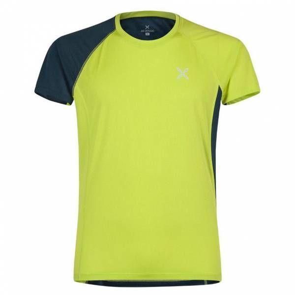 Montura World Mix T-Shirt Men Funktionsshirt verde lime/blu cenere