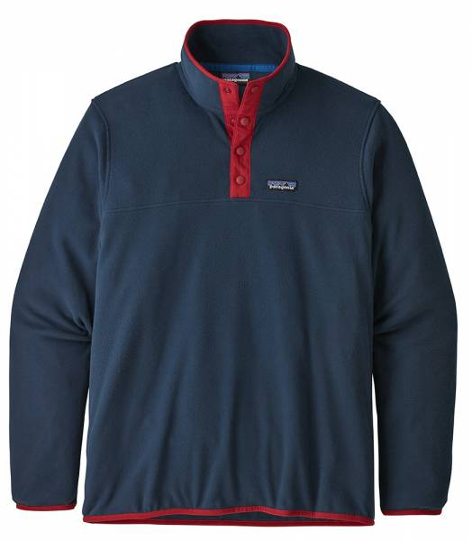 Patagonia M´s Micro D™ Snap-T® Herren Fleece-Pullover new navy w/classic red