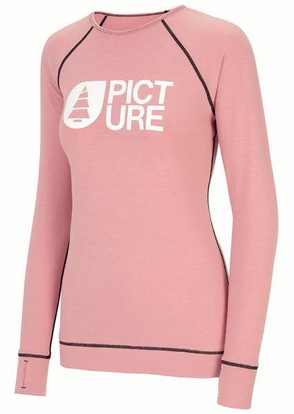 Picture Milita Top Damen Baselayer misty pink