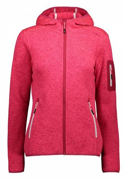 CMP Knitted Melange Hoody Jacket Damen Fleecejacke gloss-fragola (3H19826)