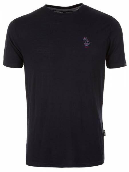 Pally´Hi Dizzy Palms Men T-Shirt bluek