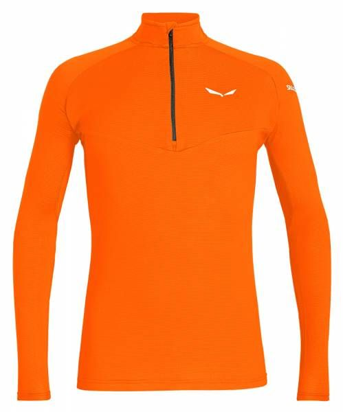 Salewa Sennes Dry L/S HZ Tee Herren Funktionsshirt fluo orange