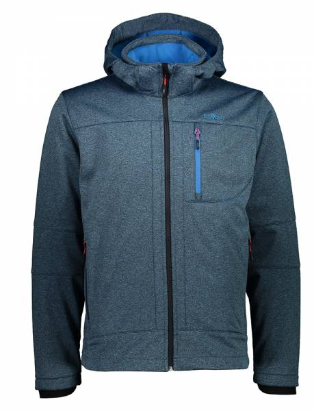 CMP Zip Hood Jacket Herren Softshelljacke regata mel. (3A01787N-M)