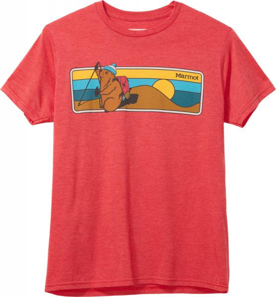 Marmot Hiking Marty Tee SS Herren T-Shirt red heather