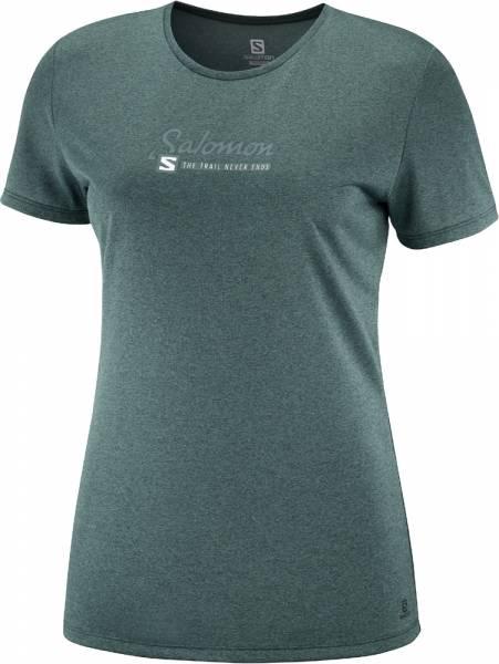 Salomon Comet Classic Tee Women Funktionsshirt print green gables
