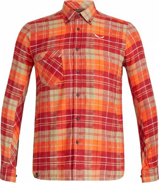 Salewa Fanes Flannel 3 PL Men L/S Shirt Hemd pump/velvet/oil