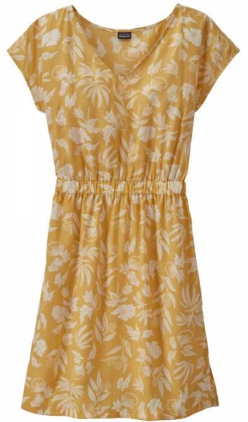 Patagonia June Lake Dress Women Kleid fiber flora big: surfboard yellow