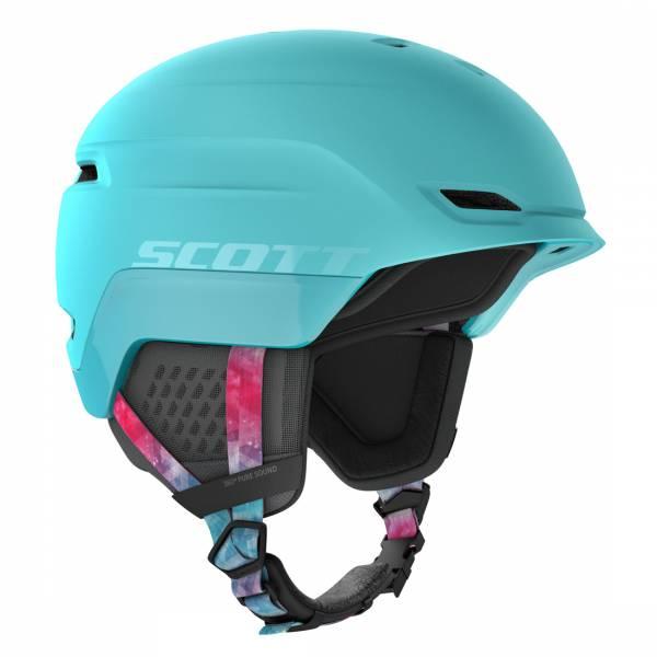 Scott Chase 2 Plus Skihelm cyan blue/pink