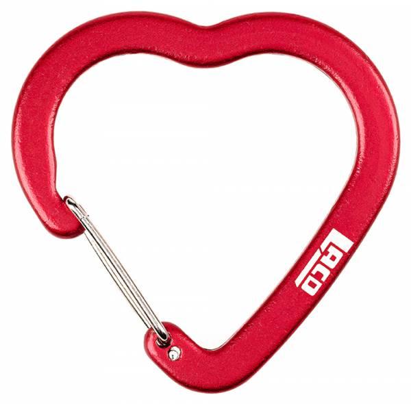 LACD Accessory Biner Heart FS red Materialkarabiner