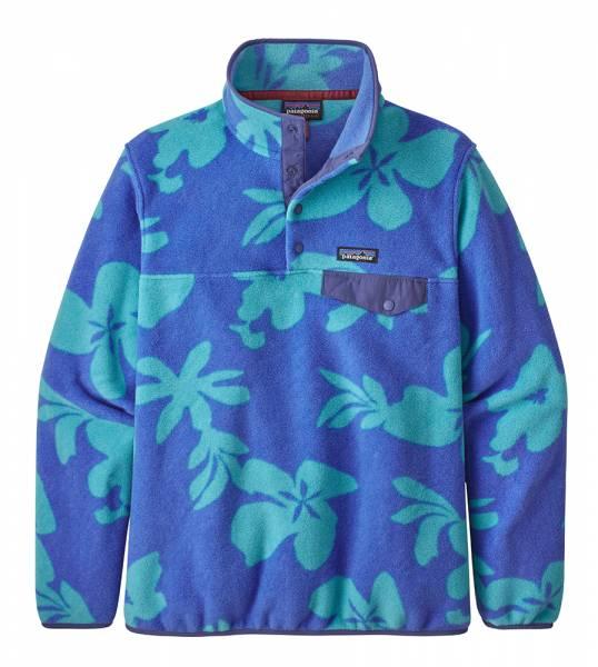 Patagonia W´s Synchilla® Lightweight Snap-T® Damen Fleece-Pullover kalani big: float blue