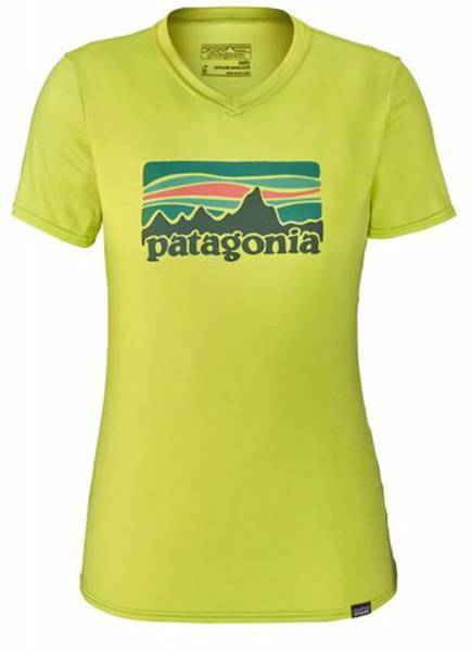 Patagonia Capilene Daily Graphic T-Shirt Women Funktionswäsche fitz roy sunfade celery green x-dye