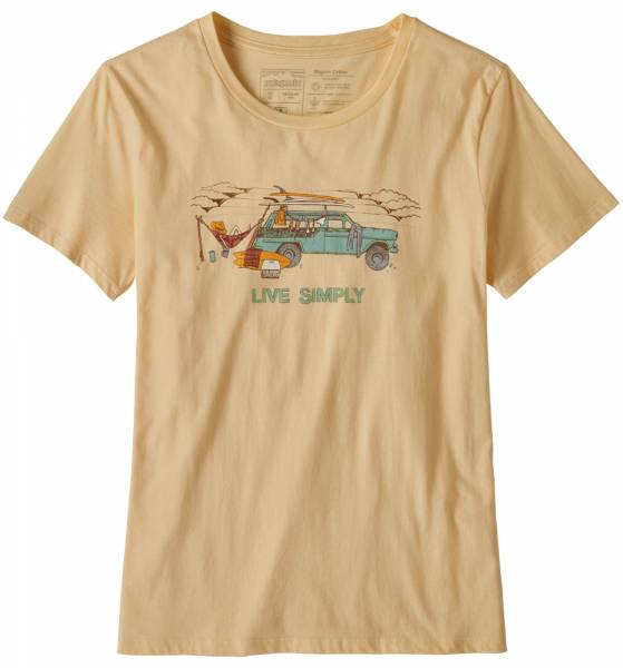 Patagonia Live Simply Lounger Organic Cotton Crew T-Shirt Women vela peach w/surf