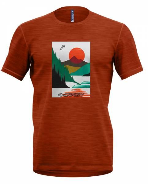 Crazy Idea T-Shirt Gulliver Man Herren Freizeitshirt brick