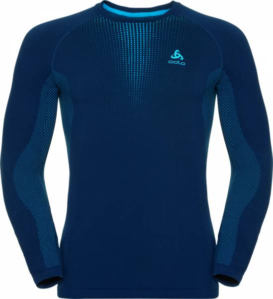 Odlo Suw Top Crew neck l/s Performance warm Men poseidon - blue jewel