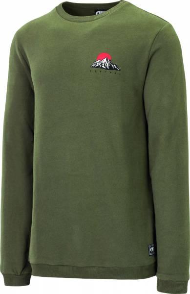 Picture Hood Crew Pullover Men dark army green