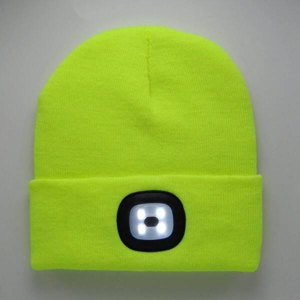 Artitec Headlight Mütze mit integrierter Stirnlampe neon gelb