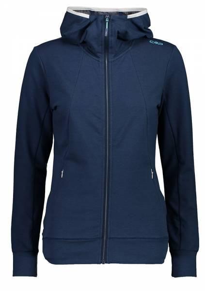 CMP Fix Hood Jacket Damen Midlayer blue mel.-bianco (30L6236)