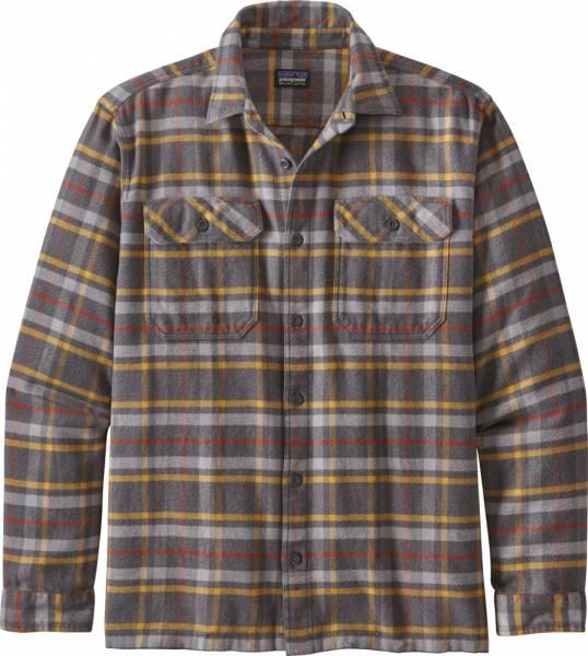Patagonia Long-Sleeved Fjord Flannel Shirt Herren Hemd forge grey