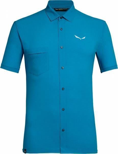 Salewa Puez Mini Check 2 Dry S/S Hemd Men blue danube