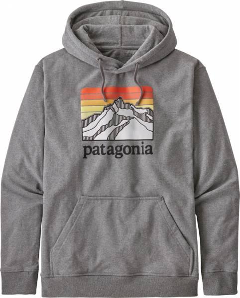 Patagonia Line Logo Ridge Uprisal Hoody Herren Kapuzenpullover gravel heather