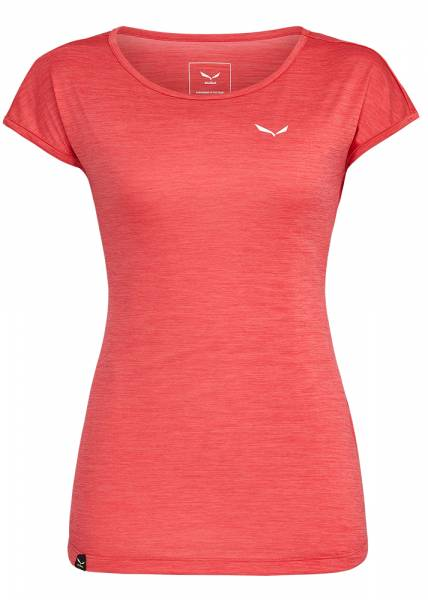 Salewa Puez Melange Dry S/S Tee Damen T-Shirt rose red melange